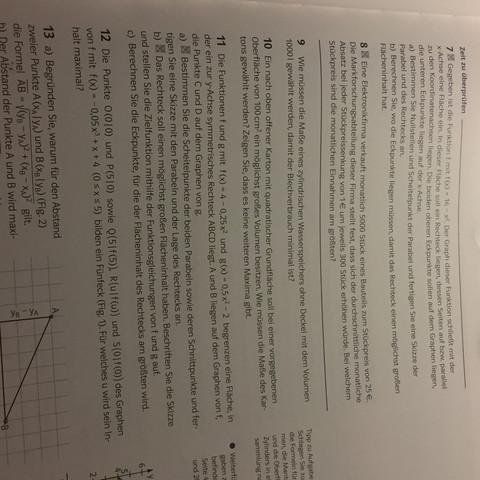 Aufgabe 10 - (Schule, Mathe, Ableitung)