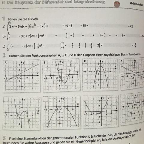 Aufgabe 1 - (Mathe, integralrechnung)