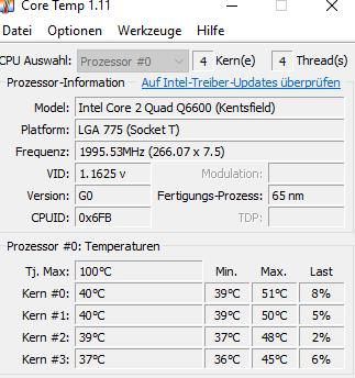 core temp - (Computer, PC, Grafikkarte)