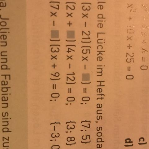 ....sodass die Gleichung die angegebene lösungsmenge hat  - (Mathe, Aufgabe, Klasse 8)