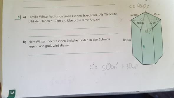 Hilfe MATHE,Satz des Pythagoras ?