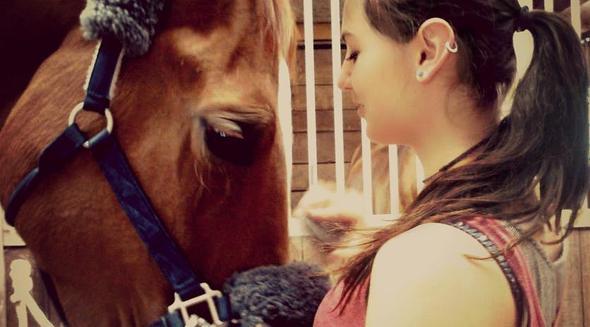 Das bin ich mit ihr... - (Pferde, Reiten, Pferdehaltung)