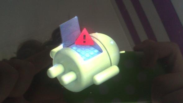 So sah es dann aus als ich ins System gekommen bin  - (Android, Tablet)