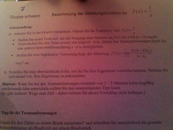 1. - (Schule, Arbeit, Mathe)