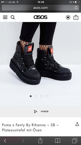 Puma fenty eyelets Boots  - (Internet, Schuhe, eBay)