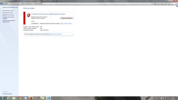 windows update fehler - (PC, programme startennicht)
