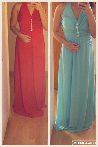 rot und blau - (Kleid, Abschlussball)