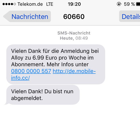 Die sms - (iPhone, Virus)