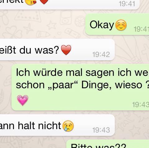 Mit einem jungen flirten über whatsapp