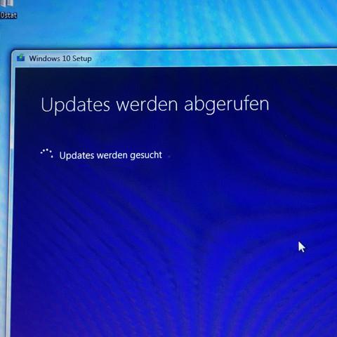 Da ist diese Update suche  - (Computer, PC, Windows)