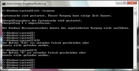 Eingabekonsole mit Fehlermeldung - (PC, Technik, Windows 7)