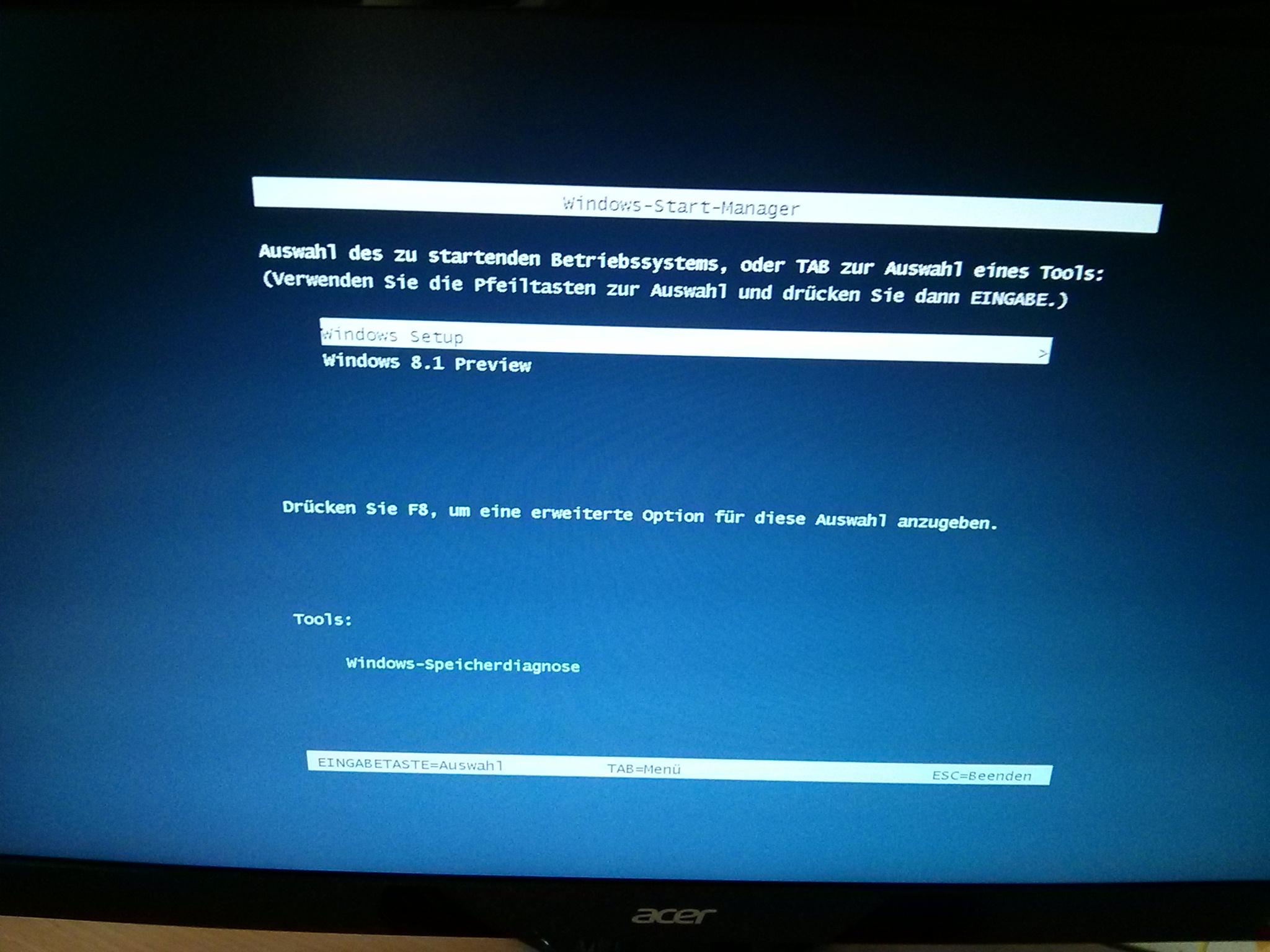 windows 7 hängt beim start