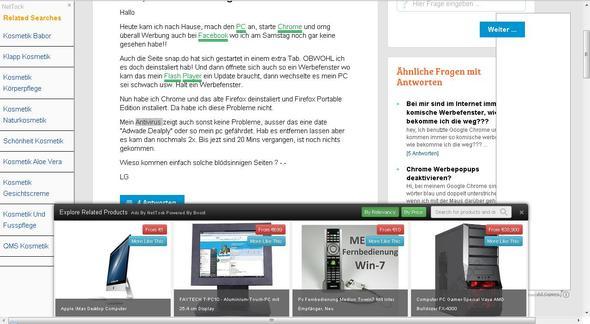 """Seite, wo noch """"wenig"""" Werbung ist (wenig: für diese Verhältnisse!) - (Werbung, E-Mail, Spam)"""