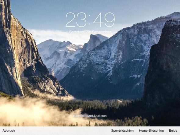 Hintergrundbild anpassen! iPad 2 IOS7