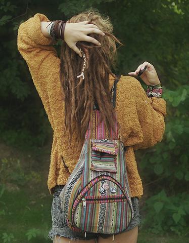 Sowas in die Richtung vielleicht - (Tasche, Rucksack, Hippie)