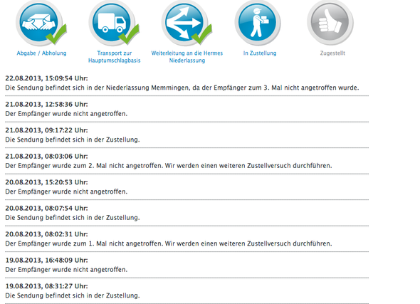 packetverfolgung - (Online-Shop, Versand, HM)
