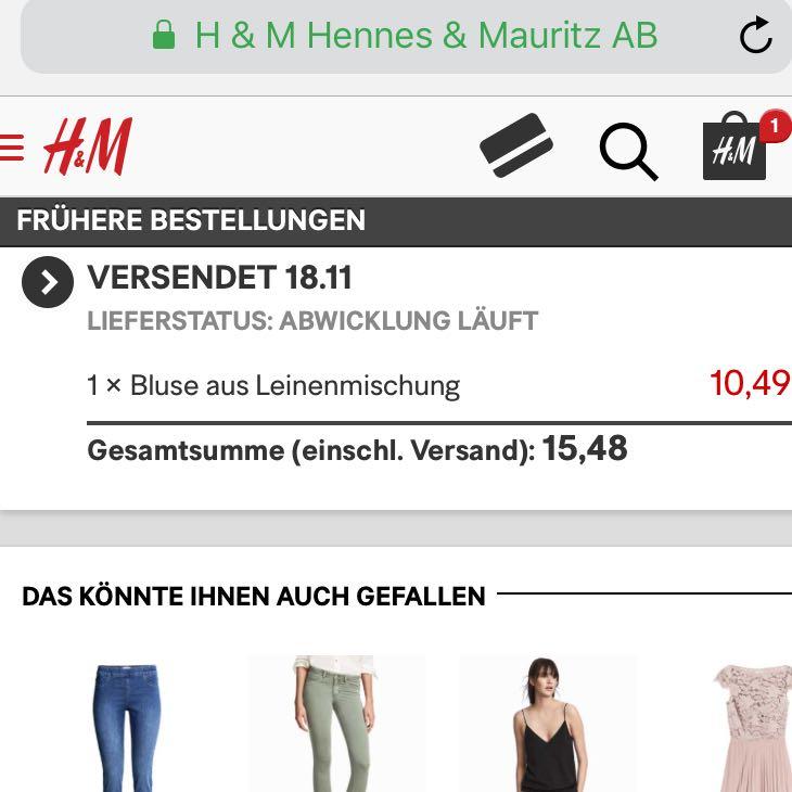 H&M Versendet Aber Kein Lieferstatus