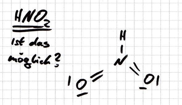 hno2 ist dieser molekülaufbau möglich chemie moleküle lewis