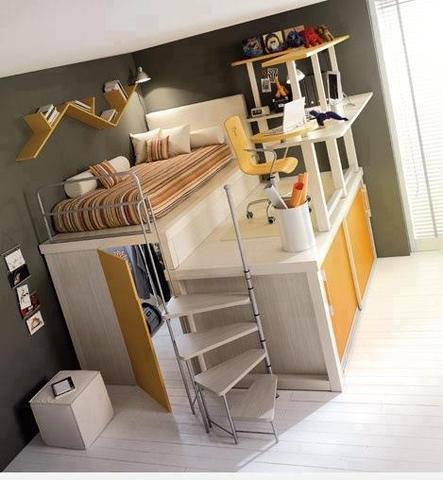 Hochbett Mit Begehbarem Schrank U0026 Schreibtisch