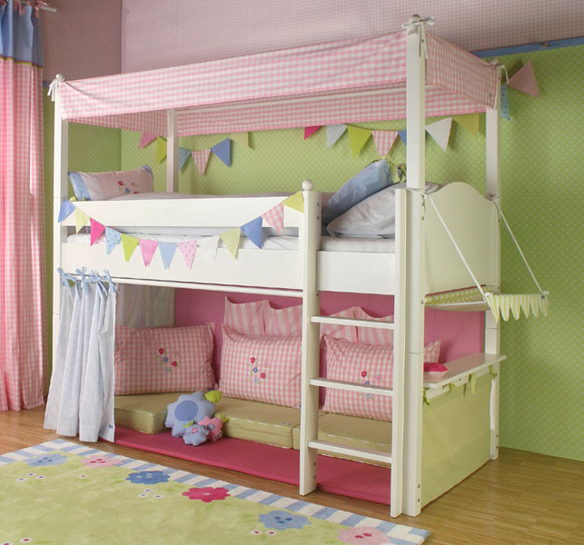 hochbett vorhang - welche Farben passen zu Kinderzimmer ...