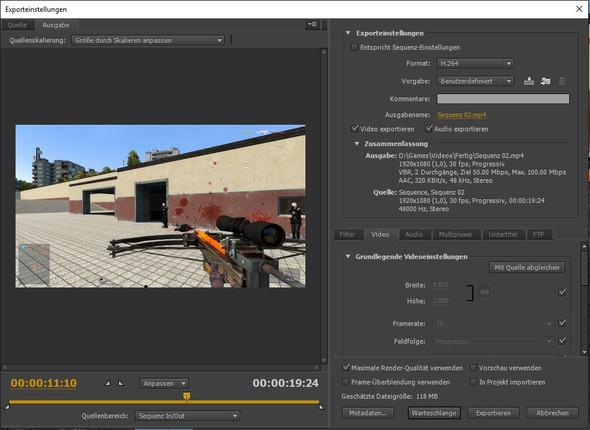 Der Export 1. - (Youtube, Video, Adobe)