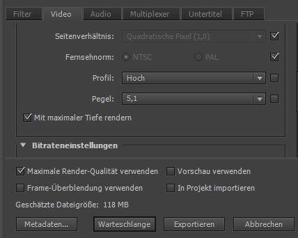 Der Export 2. - (Youtube, Video, Adobe)