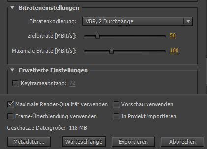 Der Export 3. - (Youtube, Video, Adobe)