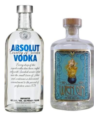 Hochprozentiges Gin oder Vodka?