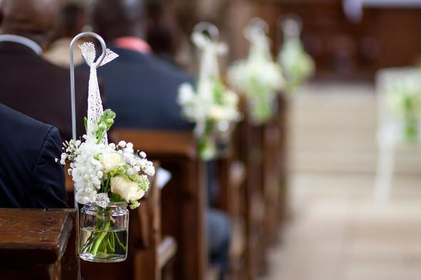 Hochzeit Kirchenbanke Schmucken Kirche Deko