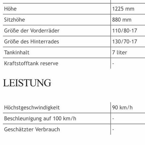 Geschwindigkeit 90 km/h (www.moto-data.com) - (Motorrad, Schweiz, Enduro)