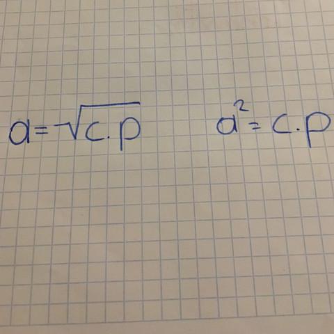 Höhen- und Kathetensatz von Euklid - (Mathematik, euklid, Höhen und kathetensatz)