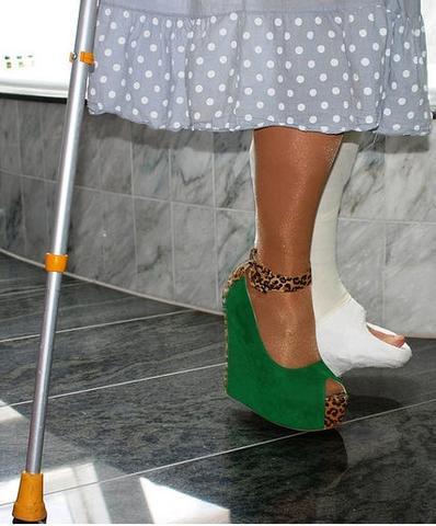 Schuhe für Gipsbein - (Gips, krücken, Gehgips)