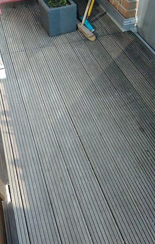 holzboden balkon vergraut reinigung holz boden. Black Bedroom Furniture Sets. Home Design Ideas