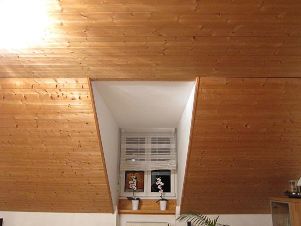 Holzdeckenproblem (abkleben? Streichen?)