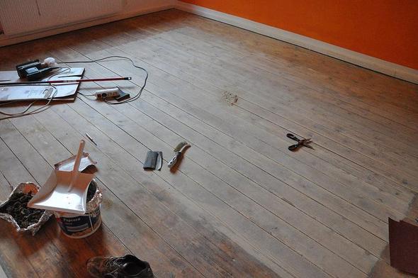 erster Schliff (hintere Seite) - (Wohnung, renovierung, renovieren)