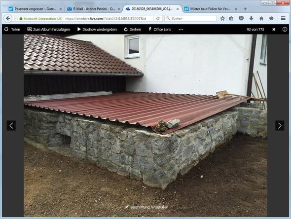 Holzterrasse auf Keller bauen, wasserdich ? Was könnte ich machen ...