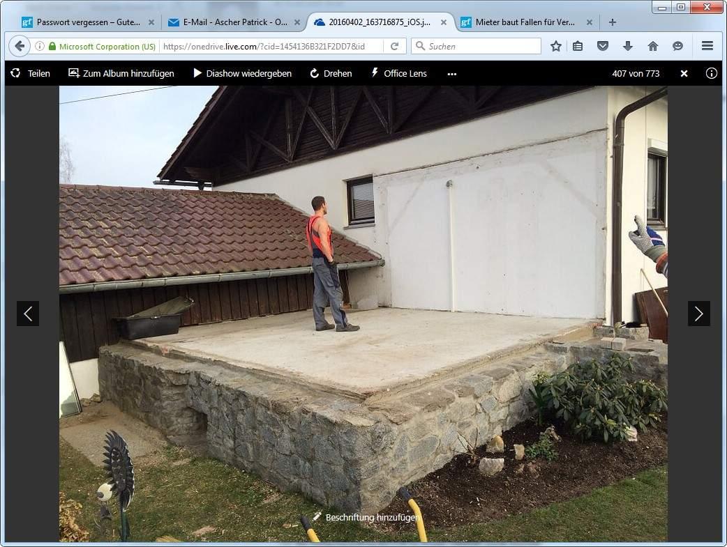 Holzterrasse auf Keller bauen, wasserdich ? Was könnte ich
