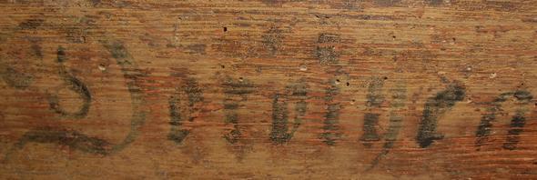 Bild 1 - (Holz, Schrift, Antiquitäten)