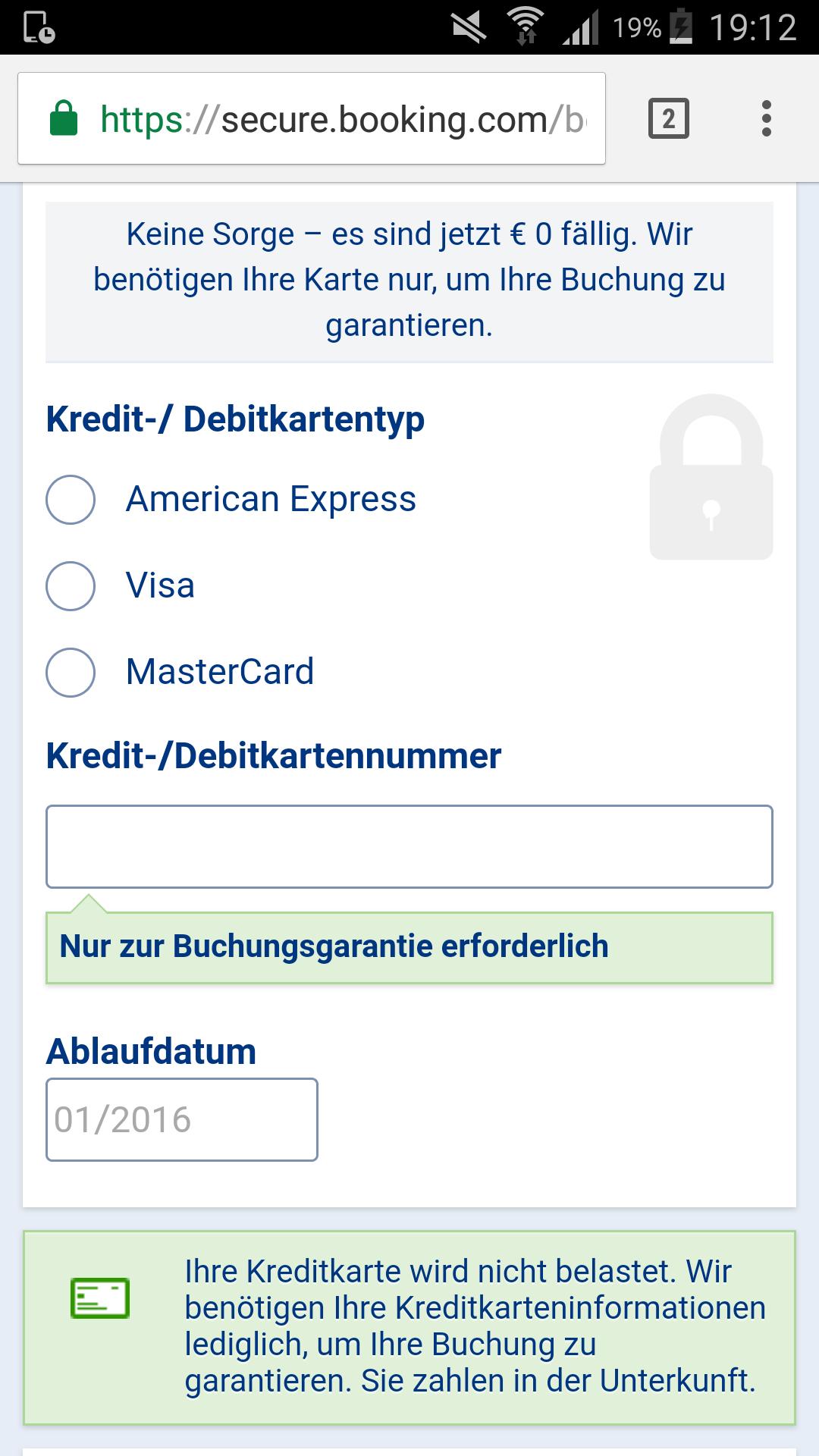 kann man hotels nur mit kreditkarte buchen