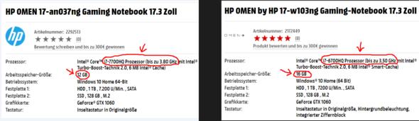 HP OMEN 17-an037ng Gaming Notebook 17.3 Zoll  ODER  HP OMEN 17-w103ng Gaming-Notebook 17.3 Zoll?