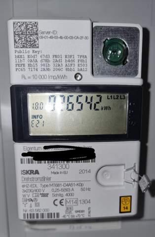 HT und NT Zählerstand bei ISKRA MT681 anzeigen lassen?