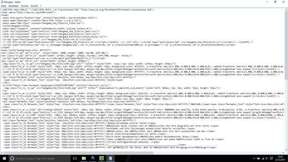 Screenshot 1 - (programmieren, html, CSS)