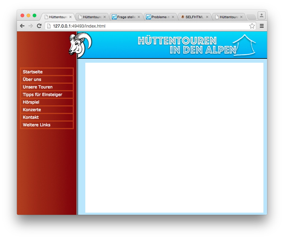 HTML-Seite mit Frames: Link in Frame öffnen (Computer, Internet ...
