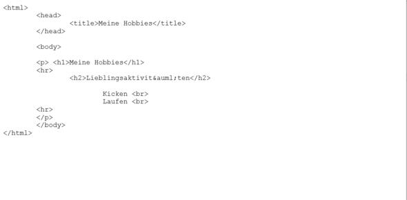 HTML  - (Computer, Informatik, html)