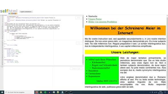 HTML und CSS: was mache ich hier falsch?