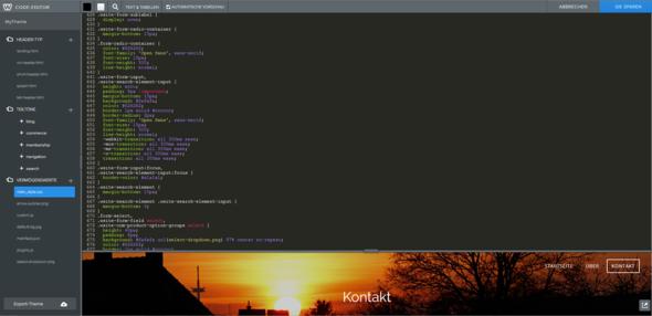 Code-Teil - (Website, html, CSS)