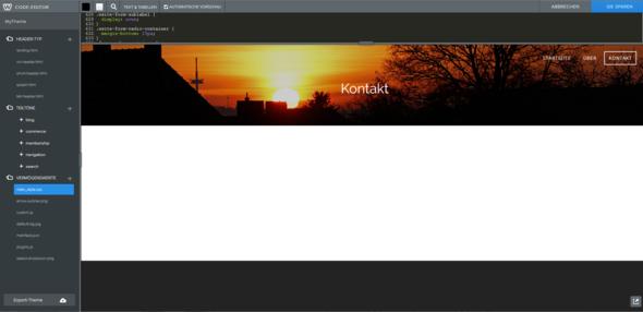 Weiße Fläche - (Website, html, CSS)