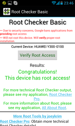 Root Checker - (Handy, Smartphone, Android)
