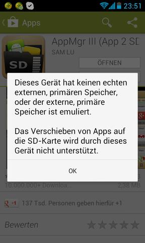 AppMgr Hinweis - (Handy, Smartphone, Android)