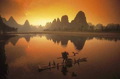 Landschaft von Guilin  - (Natur, China, Asien)